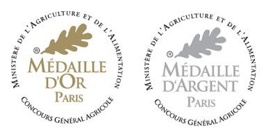 Médailles d'or au Concours Général 2018 et au Salon des Vignerons Indépendants